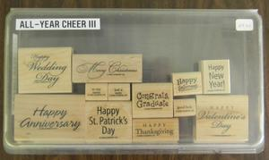 All Year Cheer III 29 300x179 Retired Stampin Up! Greetings Stamp Sets for Sale