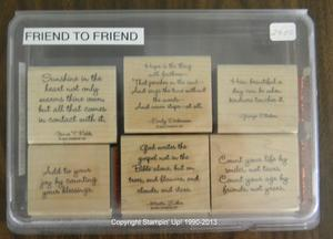 Friend to Friend 24 300x216 Retired Stampin Up! Greetings Stamp Sets for Sale