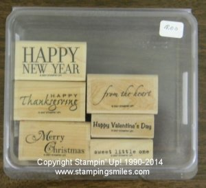 Stampin' Up! Holiday and Wishes Stamp Set