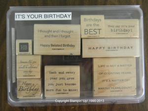Its Your Birthday 29 300x224 Retired Stampin Up! Greetings Stamp Sets for Sale