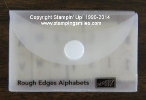 Stampin' Up! Rough Edges Alphabets Stamp Set