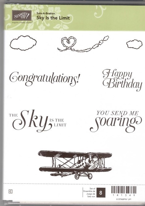 Retired Stampin' Up! Sky is the Limit Stamp Set