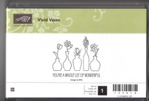 Retired Stampin' Up! Vivid Vases Stamp