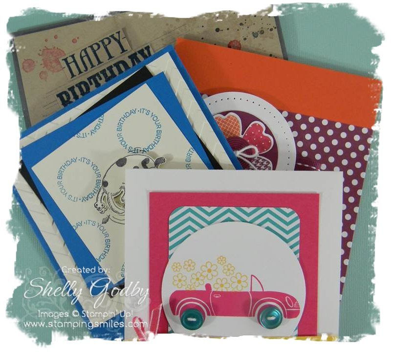 Teen birthday card class www.stampingsmiles.com