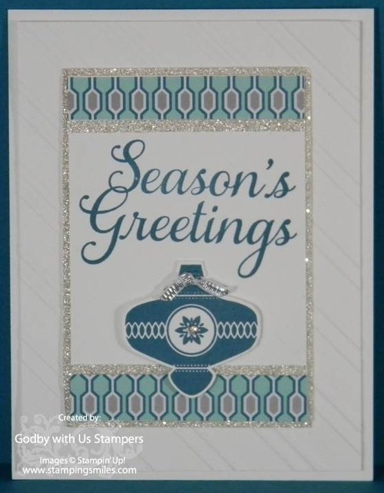 Christmas Collectibles The shine of silver for a Stampin Up! Christmas Collectibles card