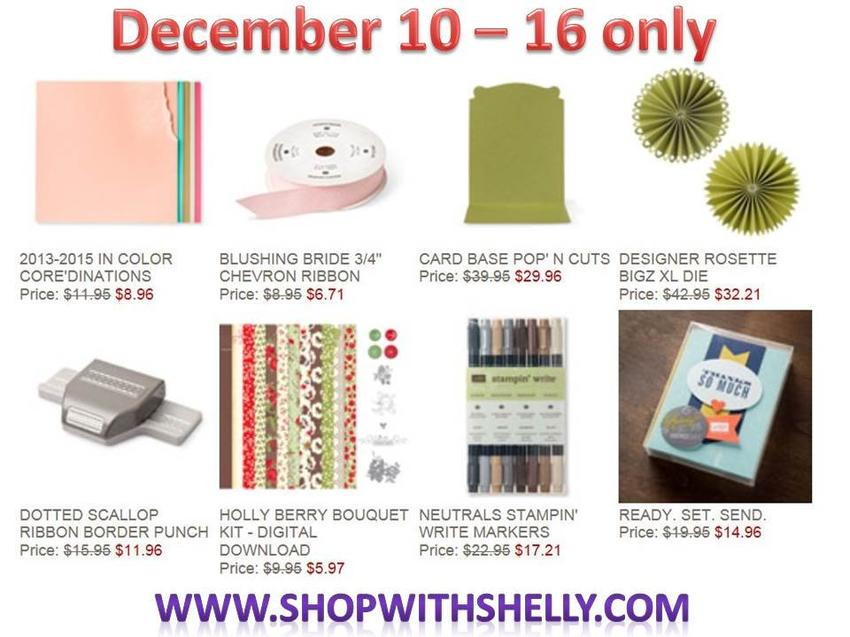 12 10 13 Weekly Deals 850x637 December 10   16, 2013 Stampin Up! Weekly Deals