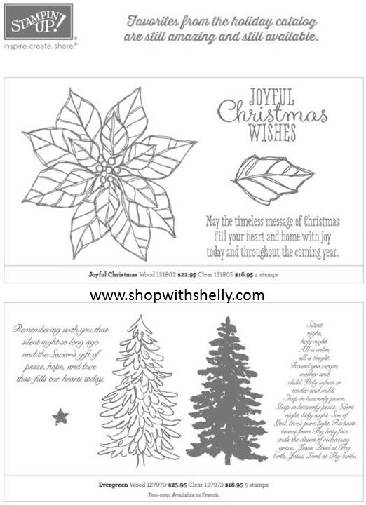 2013 Stampin' Up! Holiday Catalog Carryover List
