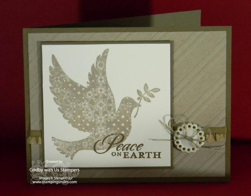 Stampin Up Calm Christmas Card 850x664 Stampin Up! Calm Christmas Card