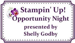 Stampin' Up! Opportunity Night
