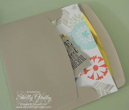 Stampin' Up! Petal Parade and Good as Gold Envelope