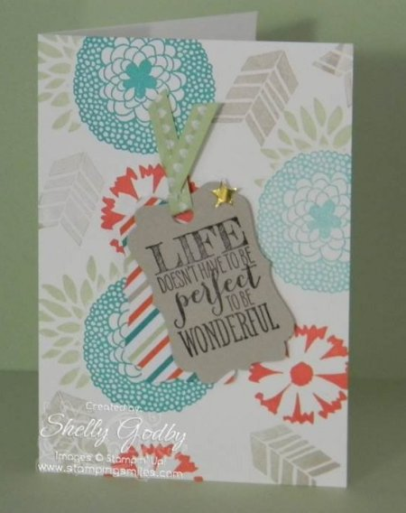 Quick Stampin' Up! Petal Parade Card