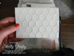 Full Honeycomb embossed card front!
