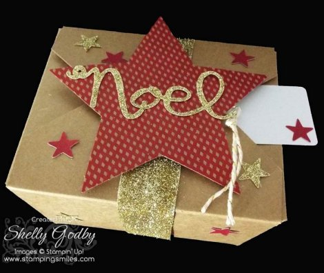 Use the Stampin' Up! Many Merry Stars Simply Created Kit for quick and easy gift packaging!
