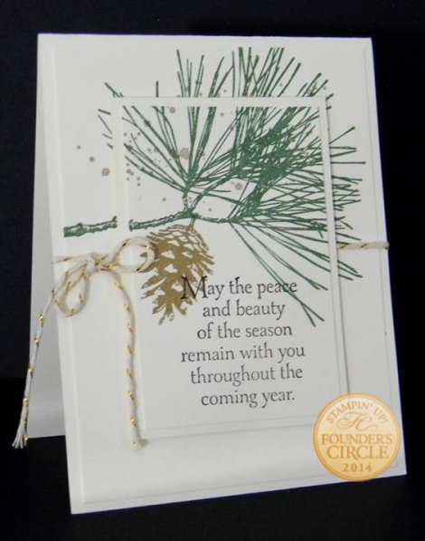 Stampin' Up! Ornamental Pine card