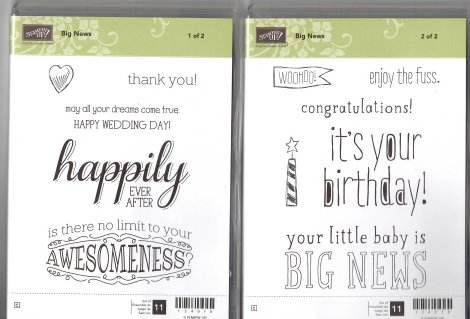 Stampin' Up! Big News Stamp Set