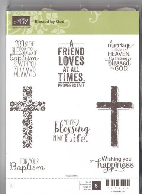Stampin' Up! Blessed by God Stamp Set
