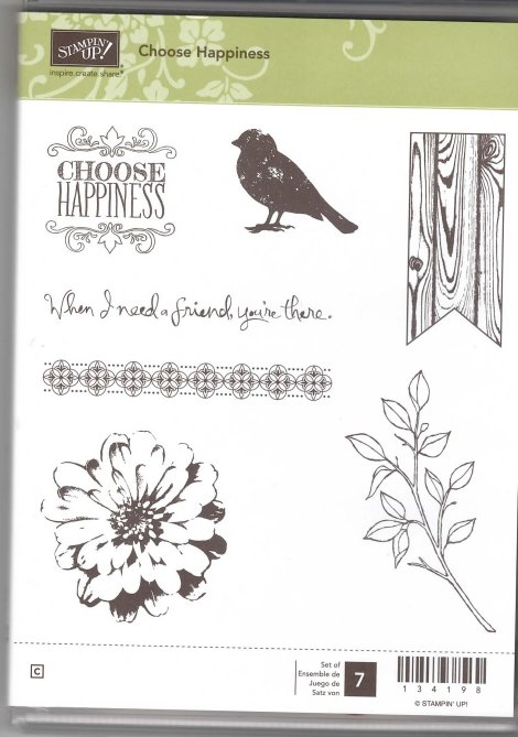 Retired Stampin' Up! Choose Happiness Stamp Set