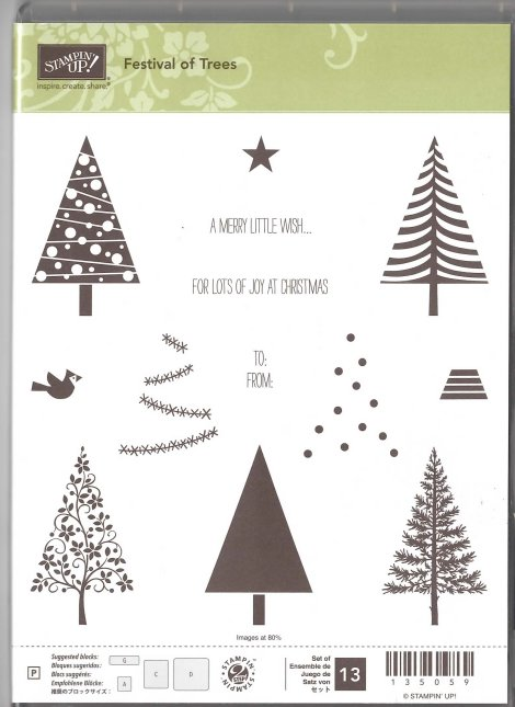 Stampin' Up! Festival of Trees Stamp Set