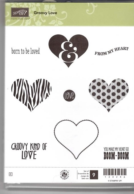 Retired Stampin' Up! Groovy Love Stamp Set
