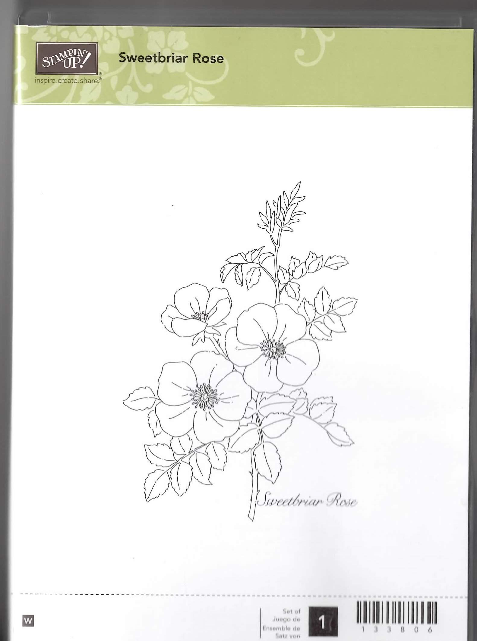 Stampin' Up! Sweetbriar Rose Stamp