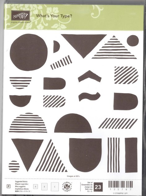 Stampin' Up! What's Your Type? Stamp Set for Sale