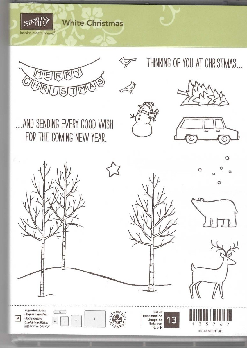 Retired Stampin' Up! White Christmas Stamp Set