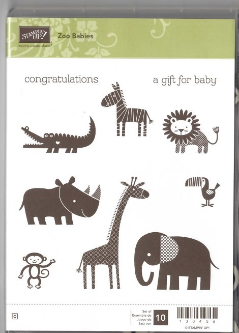 Stampin' Up! Zoo Babies Stamp Set for Sale