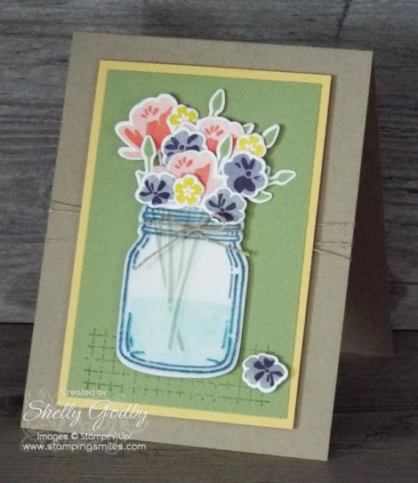 Stampin' Up! Jar of Love filled with flowers