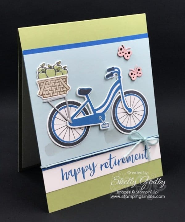 A Stampin' Up! Bike Ride into Retirement Card Idea