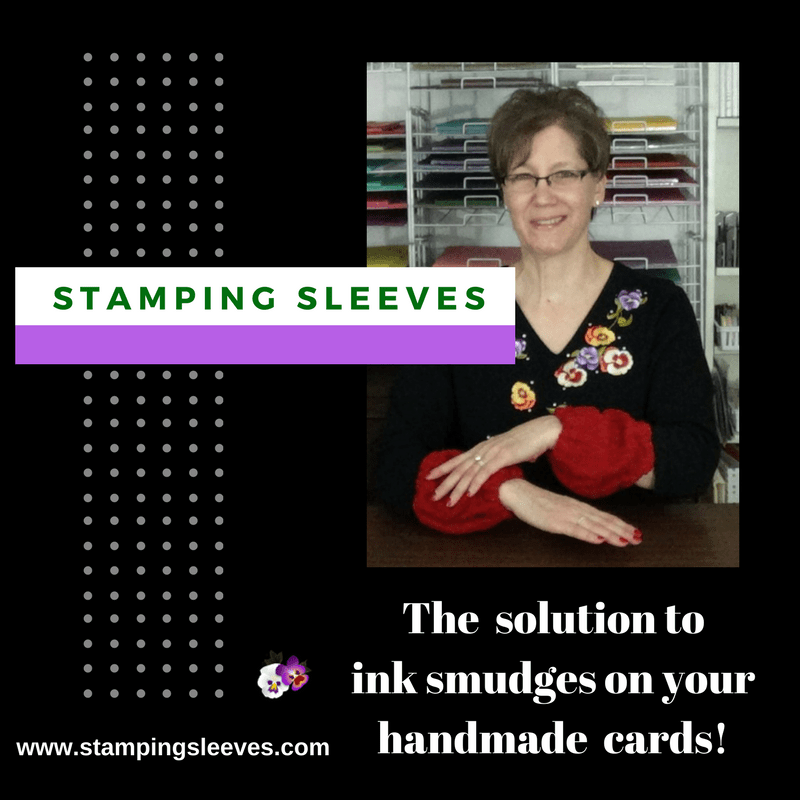 Stamping Sleeves are an easy and convenient way to prevent ink smudges from getting on your beautiful handmade cards!