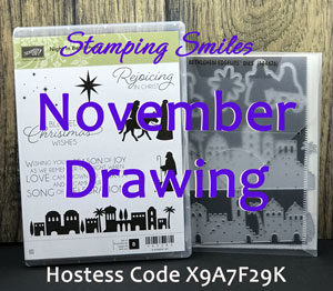 Your November Stampin' Up! order placed with Shelly Godby may win a Night in Bethlehem Clear-Mount Bundle!