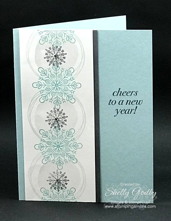quick and easy to make new year made with stampin up cheers to the