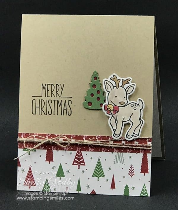 Stampin' Up! Seasonal Chums card designed by Shelly Godby of www.stampingsmiles.com with Stampin' Up! Seasonal Chums Stamp Set.