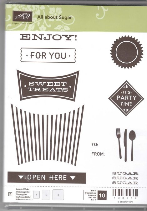 Retired Stampin' Up! All About Sugar Stamp Set