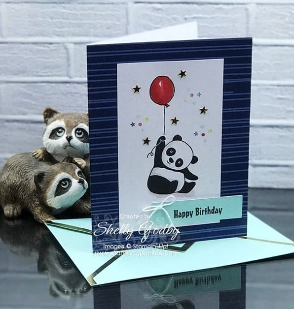 Color Me Happy With Stampin Up Party Pandas Birthday Card