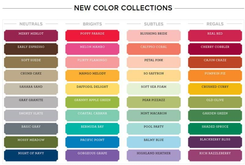New Stampin' Up! Colors are coming June 1, 2018!