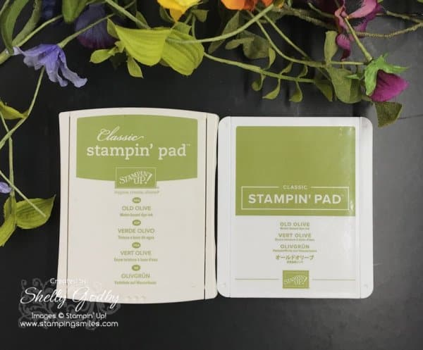 Old versus new Classic Stampin' Pad case designs