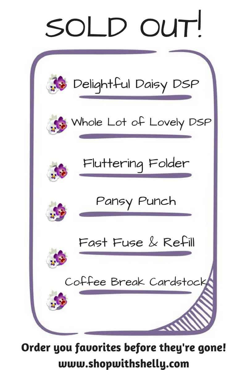 Order retired and retiring Stampin' Up! products now in my online store www.shopwithshelly.com before your favorites are sold out and gone for good!