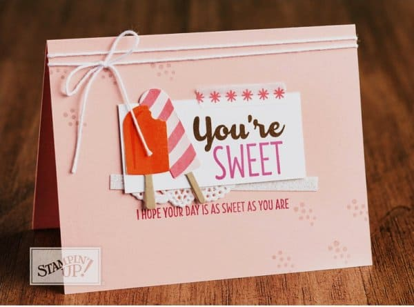 Stampin' Up! Cool Treats card from Stampin' Up! 2017-2018 Stampin' Up! Catalog