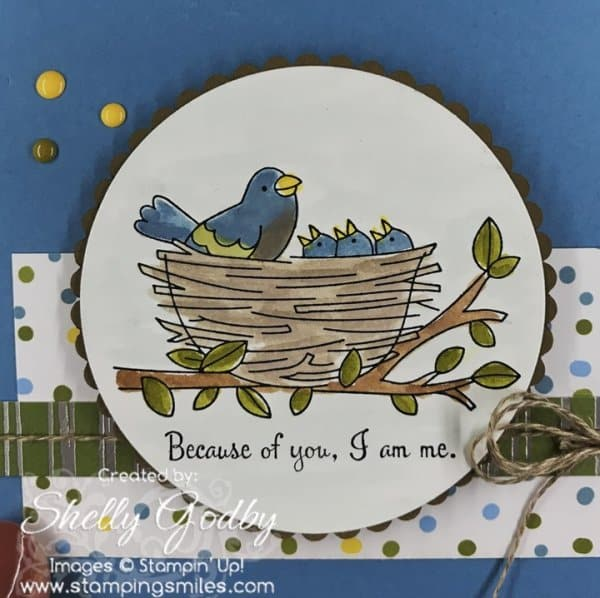 Sweet Mother's Day cards with birds designed by Shelly Godby of www.stampingsmiles.com with Stampin' Up! Flying Home Stamp Set