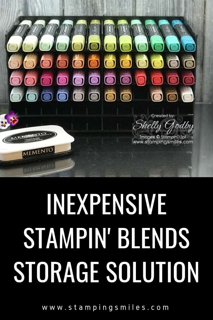 Stampin' Up! Blends Storage Solution by Shelly Godby of www.stampingsmiles.com