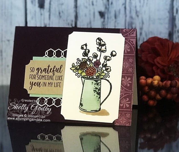 Stampin' Up! Country Home card designed by Shelly Godby with Stampin' Up! Country Home Stamp Set