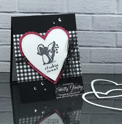 Handmade Valentine card designed by Shelly Godby of www.stampingsmiles.com with the Stampin' Up! Hey Love Stamp Set