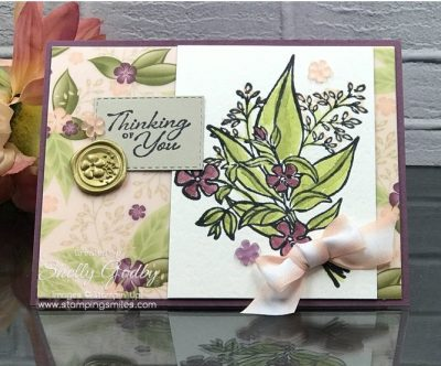 Handmade cards with watercolor paper are soft and pretty as with my Stampin' Up! Wonderful Romance Stamp Set