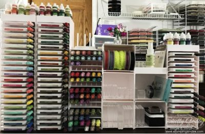 Storage by Stampin' Up! set up by Shelly Godby of www.stampingsmiles.com