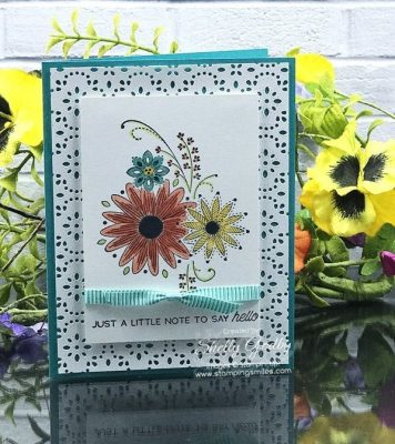Try this with your stamp positioning tool for quicker cardmaking with the Stampin' Up! A Little Lace Stamp Set