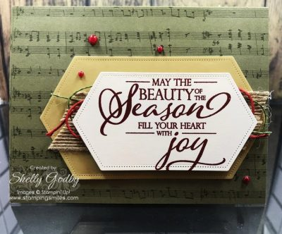 Stampin' Up! Merry Christmas to All card remade from a 2019-2020 Stampin' Up! Catalog by Shelly Godby of www.stampingsmiles.com