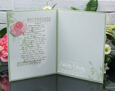 Handmade vintage card idea designed by Shelly Godby of www.stampingsmiles.com with Stampin' Up! Very Versailles Stamp Set