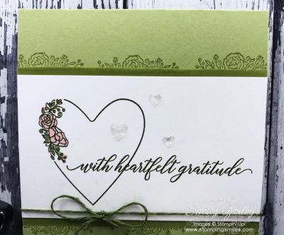 Heartfelt handmade card with the Stampin' Up! Meant to Be Stamp Set CASEd from the 2019-2020 Stampin' Up! Catalog