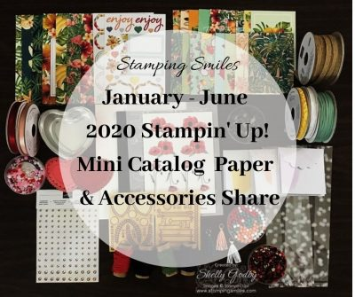 January - June 2020 Stampin' Up! Mini Catalog Paper and Accessories Share